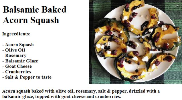 Balsamic Baked Acorn Squash