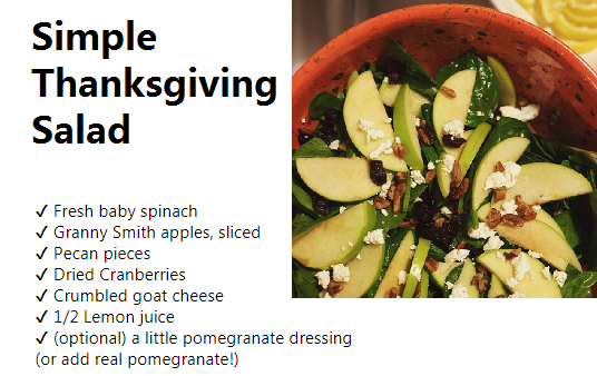 Simple Thanksgiving Salad