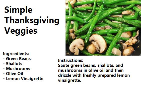 Simple Thanksgiving Veggies